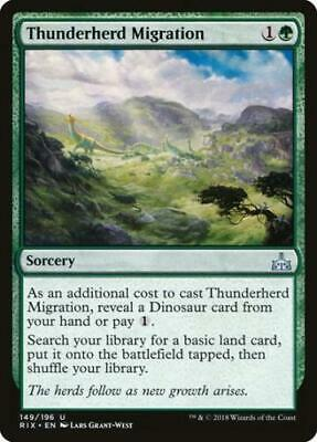 2x Thunderherd Migration - MTG Rivals of Ixalan - NEW