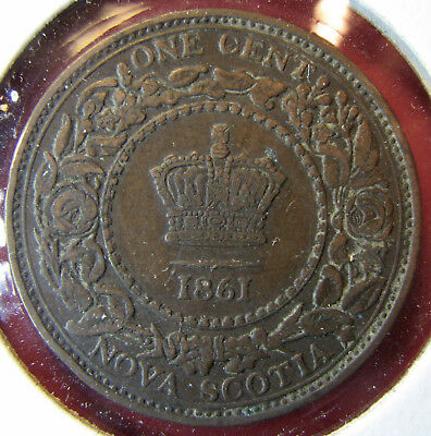 Nova Scotia: 1 Cent 1861 in great condition!