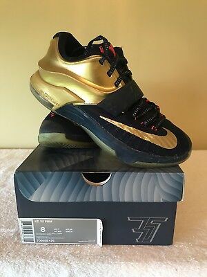 sports shoes c6fac 76717 AUTHENTIC NIKE KD PRM 7 Gold Medal Size 8 706858 476