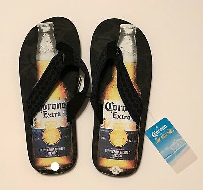 445e13aff82e Men s Corona Extra Flip Flops Size Large L 10 - 11 NEW Thongs Shoes Beer