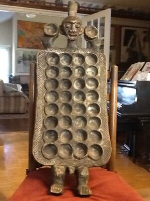 African Benalulua game board(Mankala) from Congo 34 inches tall 13.5 inches wide