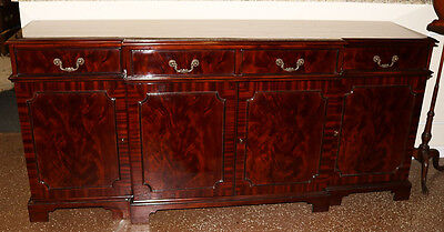 Flashy Flame Mahogany Chippendale Sideboard Server Buffet Huge