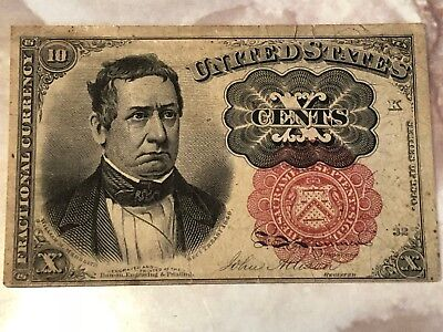 1874 10 Cent Fractional Currency - 5th Issue NICE NOTE!