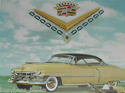 1952 Cadillac ad, Yellow Caddy with jewels, polo, color