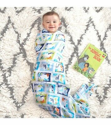 Aden & Anais DISNEY BABY CLASSIC 4 Pack SWADDLES Jungle Book