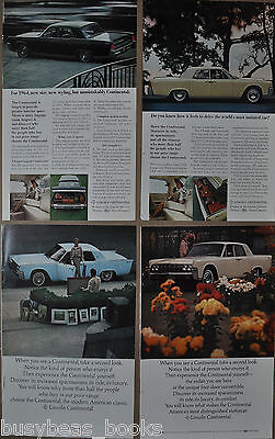 1964 LINCOLN CONTINENTAL advertisements x4, Lincoln-Mercury Continental, hardtop