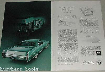 1971 Cadillac 2-page advertisement, Cadillac Coupe de Ville full page photo