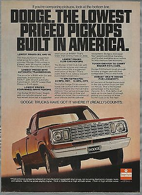 1977 DODGE Pickup advertisement, Dodge D100 Pickup Truck ad