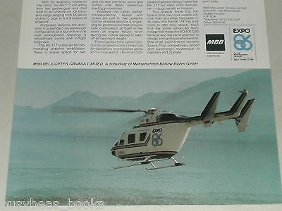 1986 MBB Helicopter advertisement, BK 117 Helicopter, EXPO 86