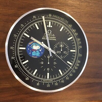 Omega Speedmaster Snoopy Award Dealer Style Clock