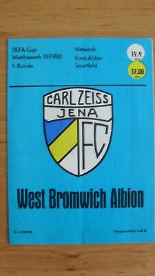 FC Carl Zeiss JENA  vs . West Bromwich Albion FC , Stadionzeitung