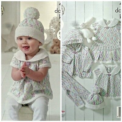 fd5b0f832 KNITTING PATTERN BABY Dress Hat Leggings Top Hoodie Cherish DK King ...