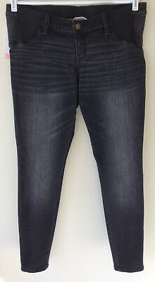 Women's Size 10 Liz Lange Maternity Black Two Pocket Under Belly Jeggings NWT