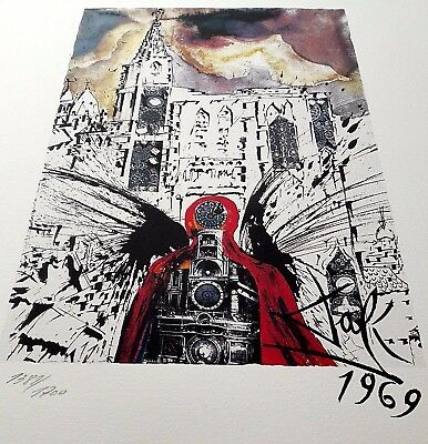 orig. signierte Salvador Dali Lithographie Butterfly Picasso Chagall Peter Pan