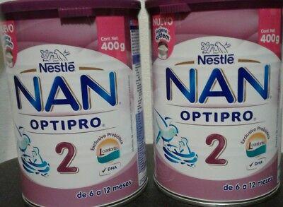 NESTLE NAN OPTIPRO 2 - For 2 Cans of 400g each - FREE PRIORITY SHIPPING IN U.S.A