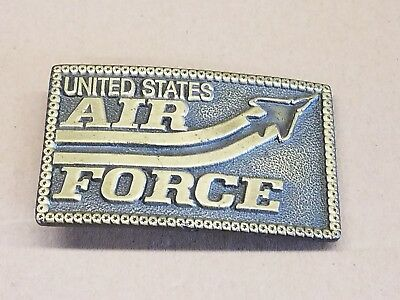 Vintage  Brass ~United State Air Force~ Belt Buckle 1980's (?) FREE SHIPPING!