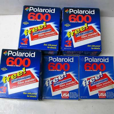Lot of 11 Sealed Polaroid 600 Instant Film, Platinum Packs 110 Photos Expired