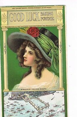 ANTIQUE ADVERTISING / TRADE Card   GOOD LUCK BAKING POWDER - RICHMOND, VA
