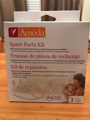 New In Box! Ameda Breast Pump Spare Parts Kit