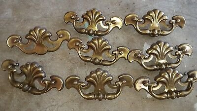 Vintage/Retro Fancy Drawer Pulls - 9 brass plated