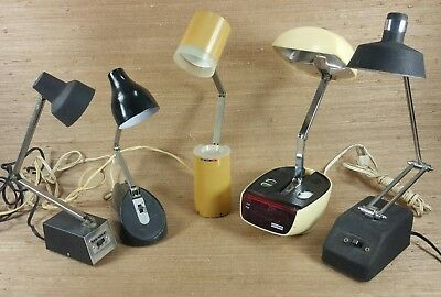 Lot of 5 Mid Century Mobi Lite Tenson Desk / table Lamps Very Cool