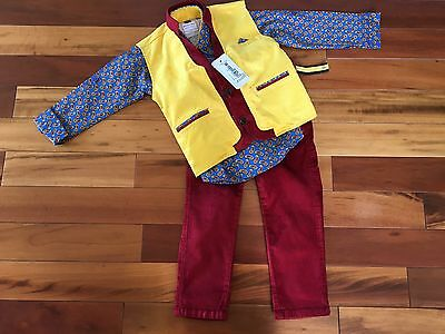 "Boys Designer ""Shoot Out"" Baba Suit Two Piece Set - Size - 4"