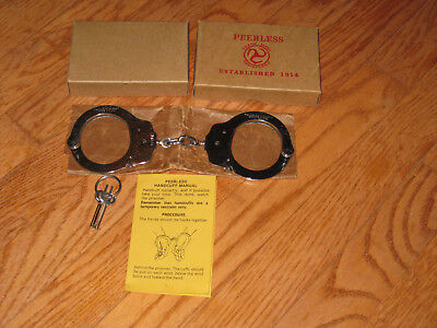 7.5oz. Lightweight Peerless Super Thin Handcuffs with Box and Keys