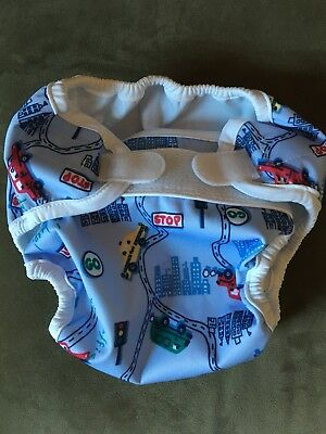 Bummis Super Whisper Wrap Newborn Big City cloth diaper cover Large 30-40lb