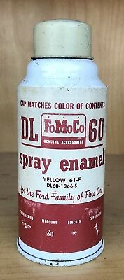 Vintage FoMoCo Yellow Spray Paint Can - Ford - Lincoln - Mercury - Dearborn, MI