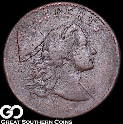 1794 Large Cent, Flowing Hair, Head Of '94, Choice VF++/XF Key Date Early Copper