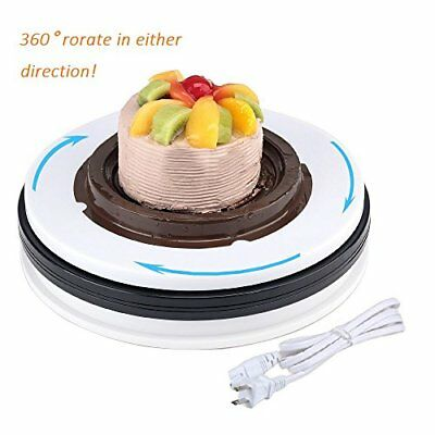 White Display Stand Base MonoDeal Rotating Turntable 360 Degree Clockwise or 60