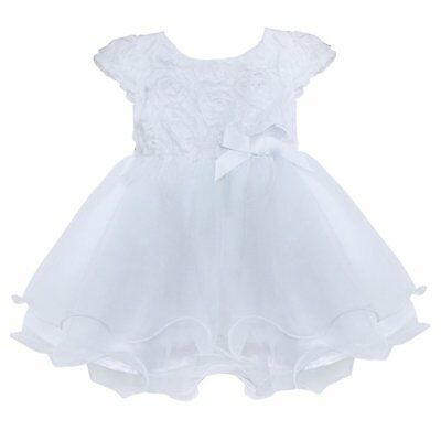 Freebily Infant Baby Flower Girl Dress Baptism Christening Gown Party Wedding