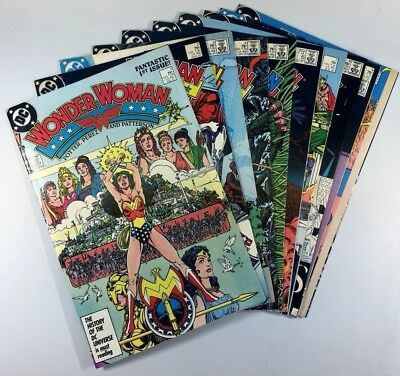 DC Comics WONDER WOMAN (1987) #1-10 Complete KEY Run G PEREZ Cheetah Ships FREE!