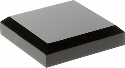 """Plymor Brand Black Acrylic Square Beveled Display Base .5"""" H x 2"""" W D Cases"""