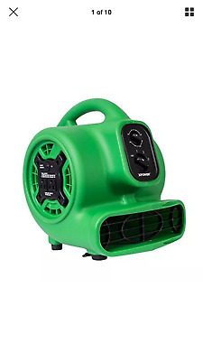 XPOWER P-230AT 1/5 HP Mini Air Mover Carpet Dryer Fan Blower - GREEN