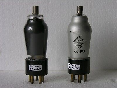 Telefunken AC100 tube Röhre triode pair ~ AC2 AC101 for 300B, AD1, RE604 amp