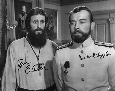 Tom Baker & Michael Jayston in person signed autograph - Nicolas & Alexandra