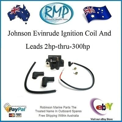 1 X New Ignition Coil and Lead Johnson Evinrude 2hp-thru-300hp # R 582508 K