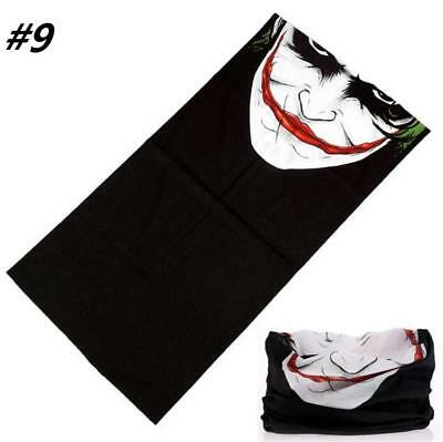 Skiing Bandana Joker, Skull, neck face mask, hood etc Outdoors Motorbike etc