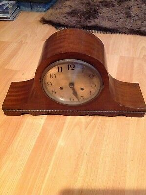 Vintage Baduf German Chiming Mantle Clock Black Forest