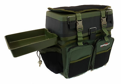 New Seatbox With Side Tray Option, Fishingmad Fishing Tackle Roving Seat Box