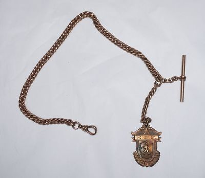 Vintage Knights Of Columbus Watch Chain & Fob