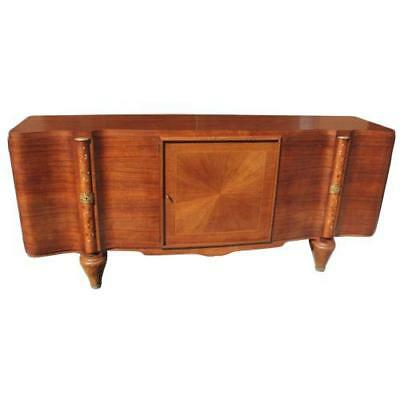 French Art Deco Sideboard Jules Leleu Palisander Mother of Pearl Inlaid AS IS