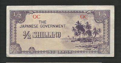 Oceania Japanese Government 1942 1/2 Shilling P 1 Circulated