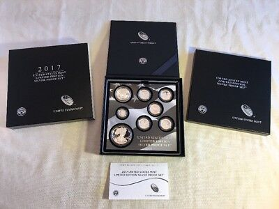 2017 8 PC US LIMITED EDITION SILVER PROOF Coin SET IN HAND READY TO SHIP S Eagle