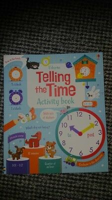 Brand new. usborne childrens books. Telling the time activity book.