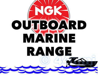NGK Bougie d'allumage pour MARINE SUPPORT MOTEUR MERCURY 60hp 3-cyl. 2-Stroke