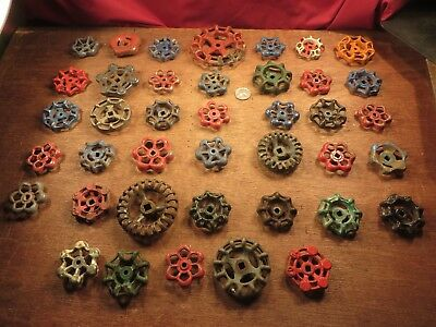 40 Vintage Valve Handles Water Faucet Knobs STEAMPUNK Industrial Arts Crafts # E