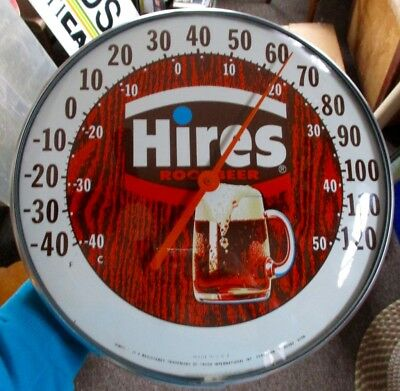 """RARE Vintage HIRES ROOT BEER """"Pam-Style"""" THERMOMETER...NOS & NICE!"""