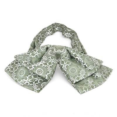 TieMart Mint Green Emma Floral Pattern Floppy Bow Tie